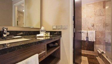 Bathroom standard room Urban Aeropuerto Ciudad de México Hotel Mexico City